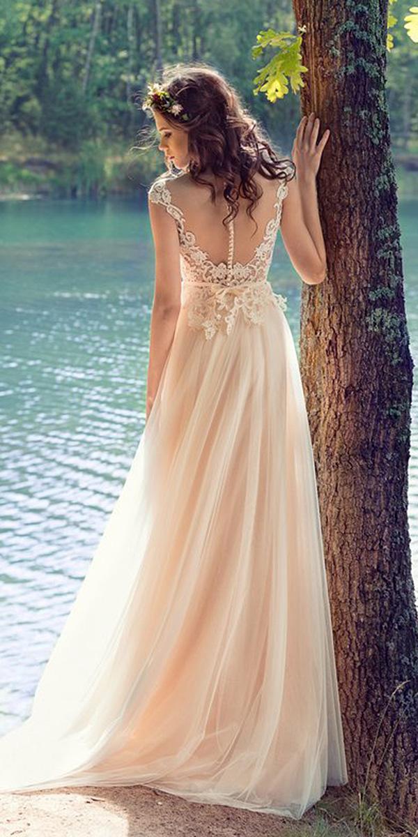 papilio wedding dresses sheath ilusion lace back 2017