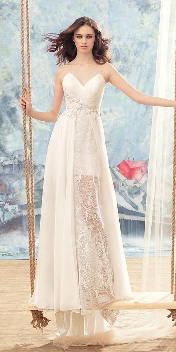 papilio wedding dresses sheath sweetheart spaghetti straps lace 2017