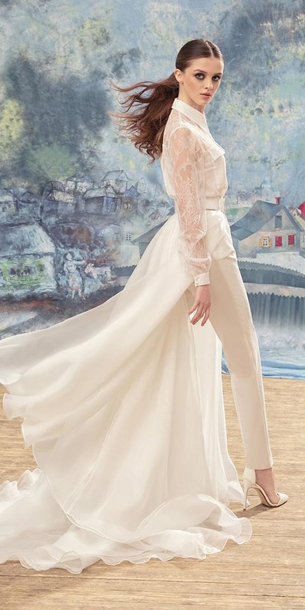 papilio wedding dresses with long sleeves lace modern high neck 2017