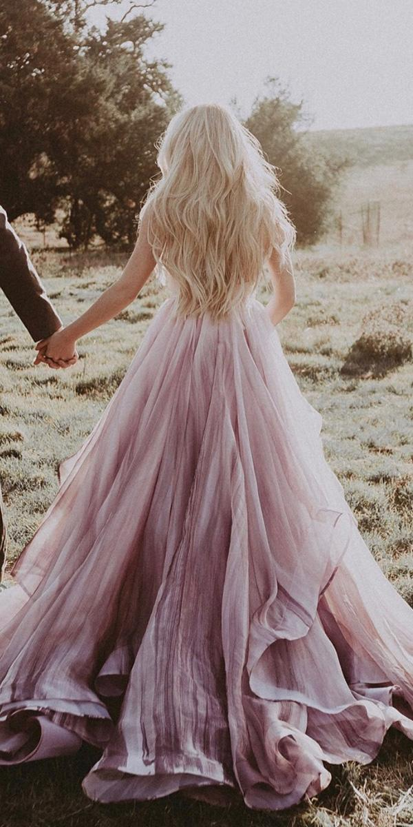 purple wedding dresses royal ombre chantel lauren designs