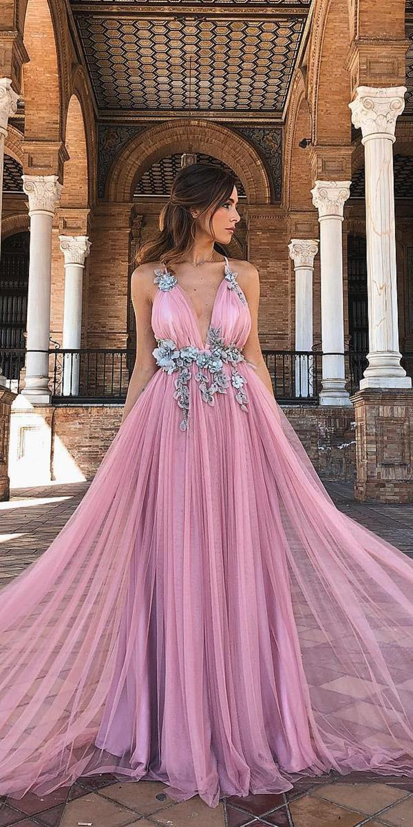 purple wedding dresses royal with straps with 3d floral rocio osorno costura