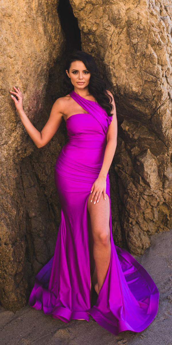 purple wedding dresses sheath with slit simple jessica angel