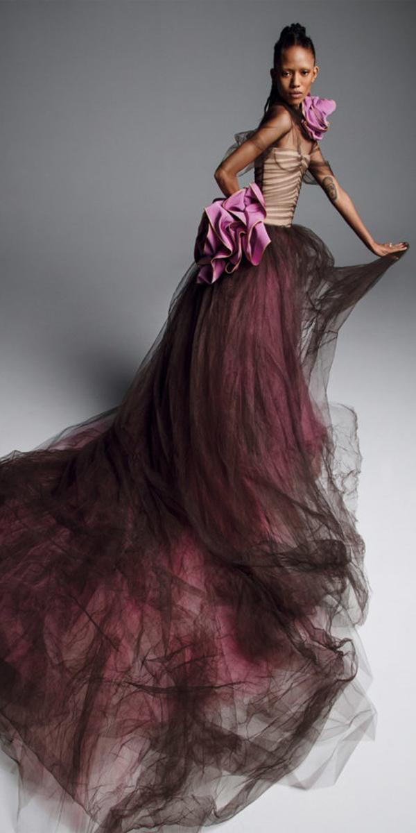 purple wedding dresses unique with black overskirt 2019 vera wong