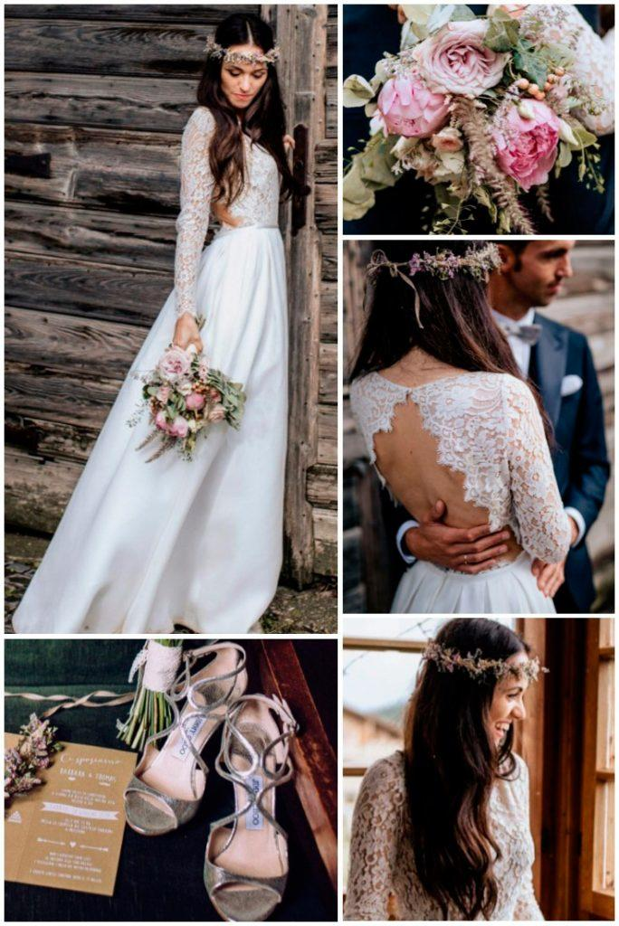 rustic wedding dresses straight lace long sleeves open back chris and ruth