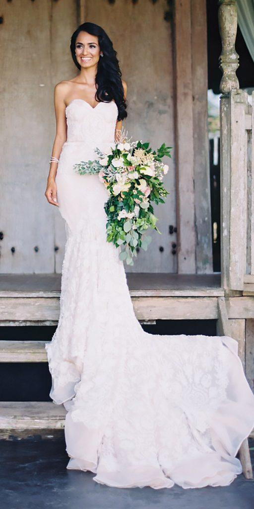 simple rustic wedding dresses strapless sweetheart neckline sheath katie grant photo