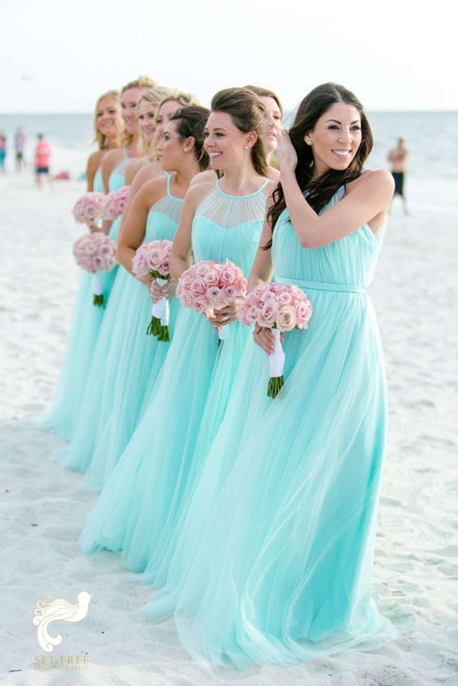teal bridesmaid dresses long jewel neckline pastel set free photography