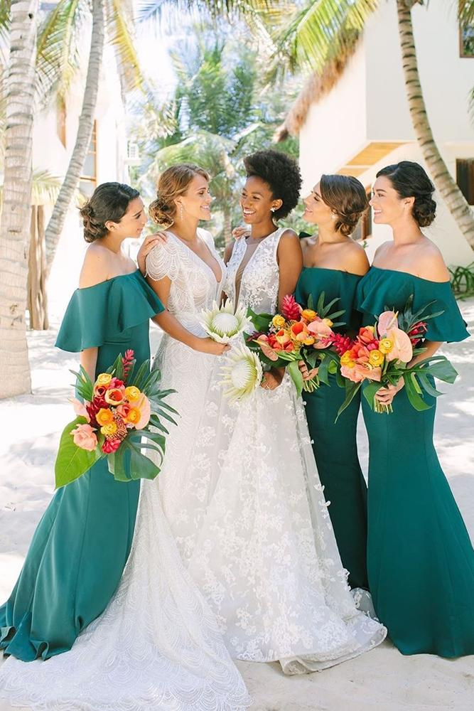 15 Most Incredible Teal Bridesmaid Dresses You Must See Wedding Dresses Guide