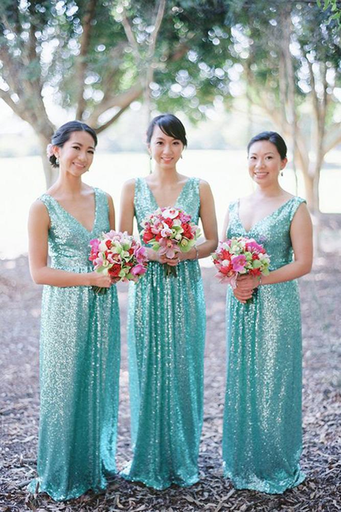 teal bridesmaid dresses long v neckline sequins we are origami photo