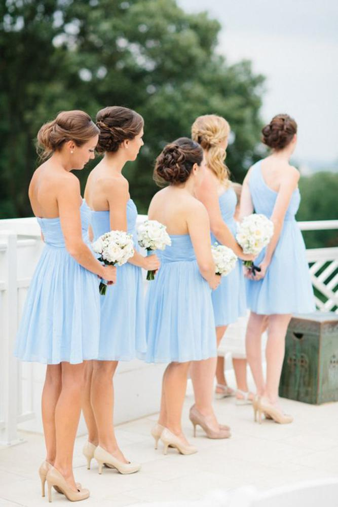 teal bridesmaid dresses short pastel abby grace photography
