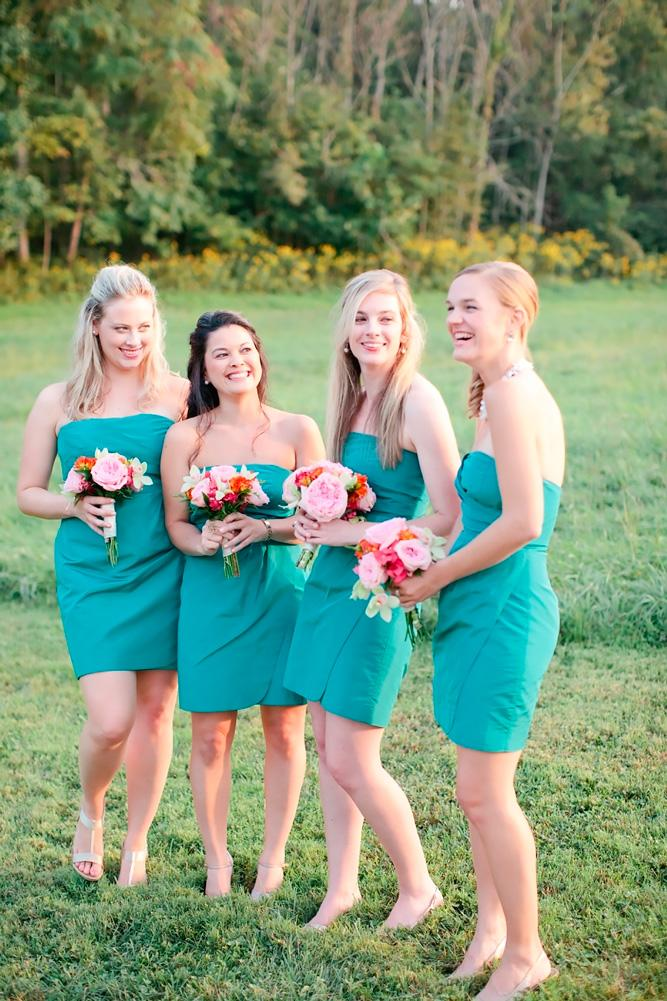 teal bridesmaid dresses short strapless neck marta locklear