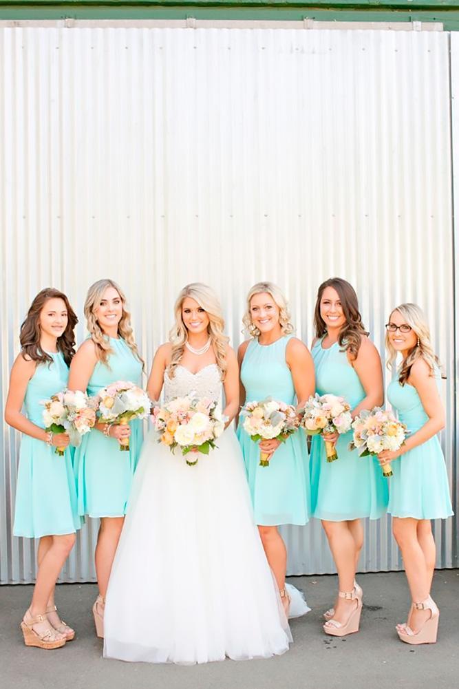teal bridesmaid dresses sleeveless short brooke beasley