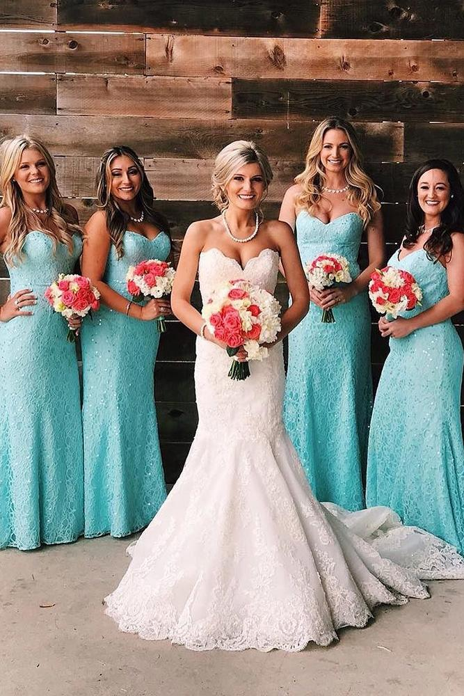 12 most incredible teal bridesmaid dresses you must see for Teal dress for wedding