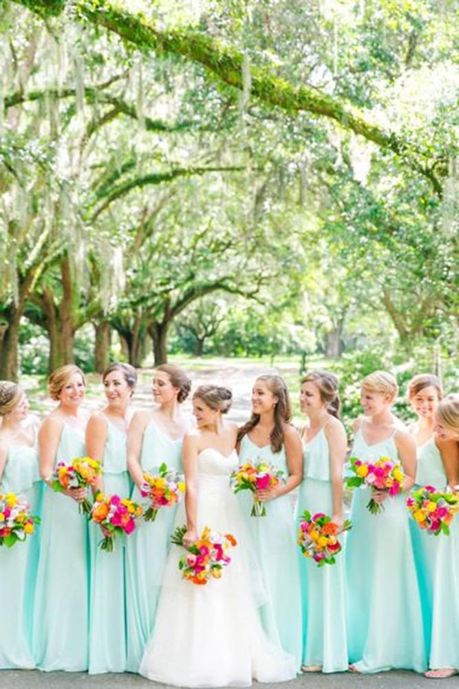 teal bridesmaid dresses with spaghetti straps long dana cubbage weddings