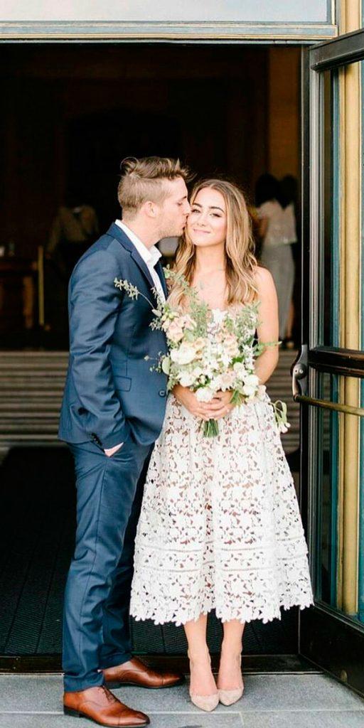 vintage wedding dresses tea length sleeveless melanieduerkopp