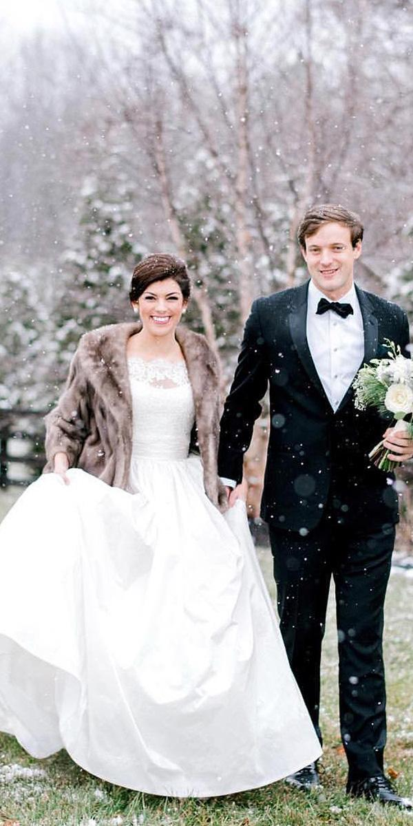 winter wedding dresses ball gown with fur simple anne barg