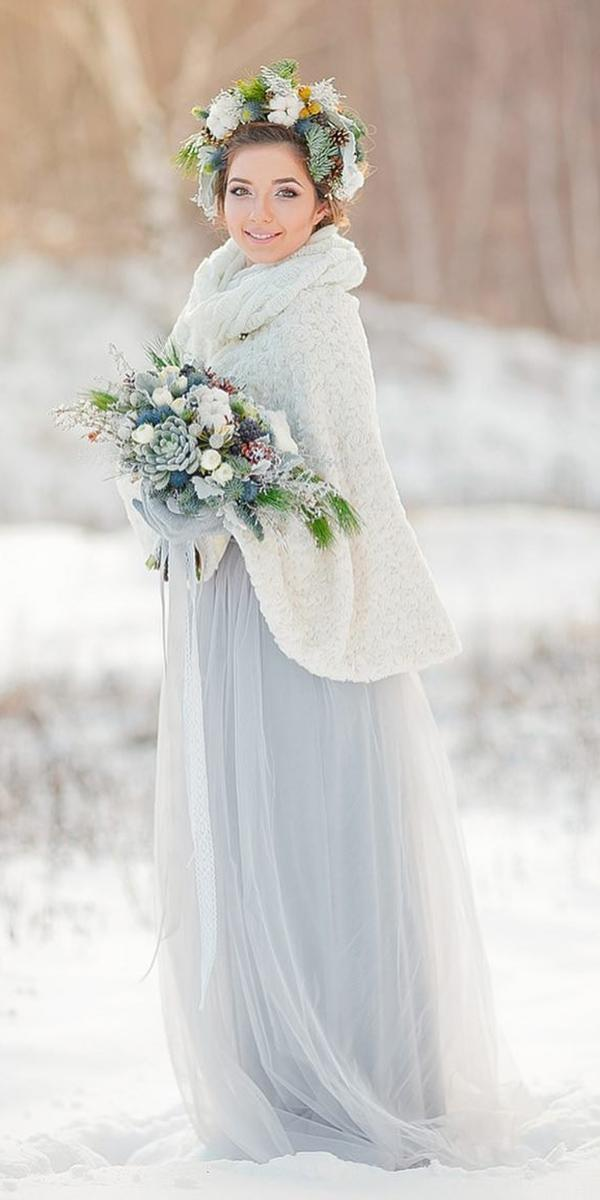 winter wedding dresses blue with coat tulle skirt fab mood palette