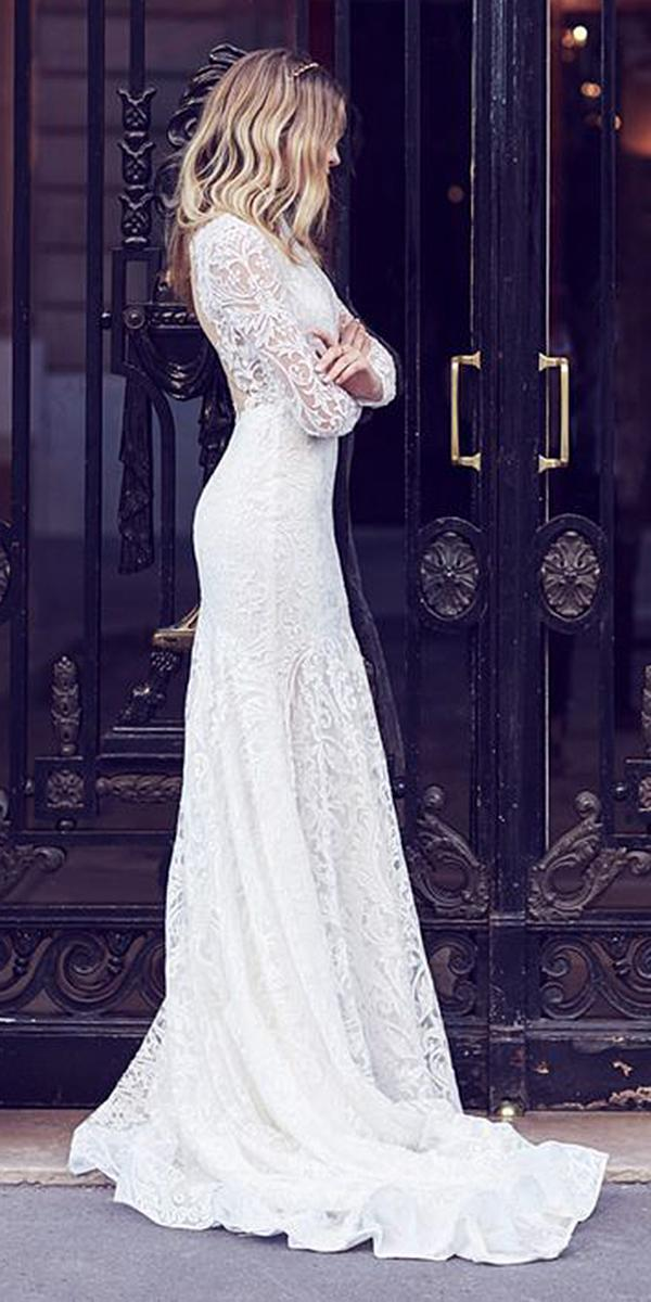 winter wedding dresses sheath with long sleeves lace suzanne harward