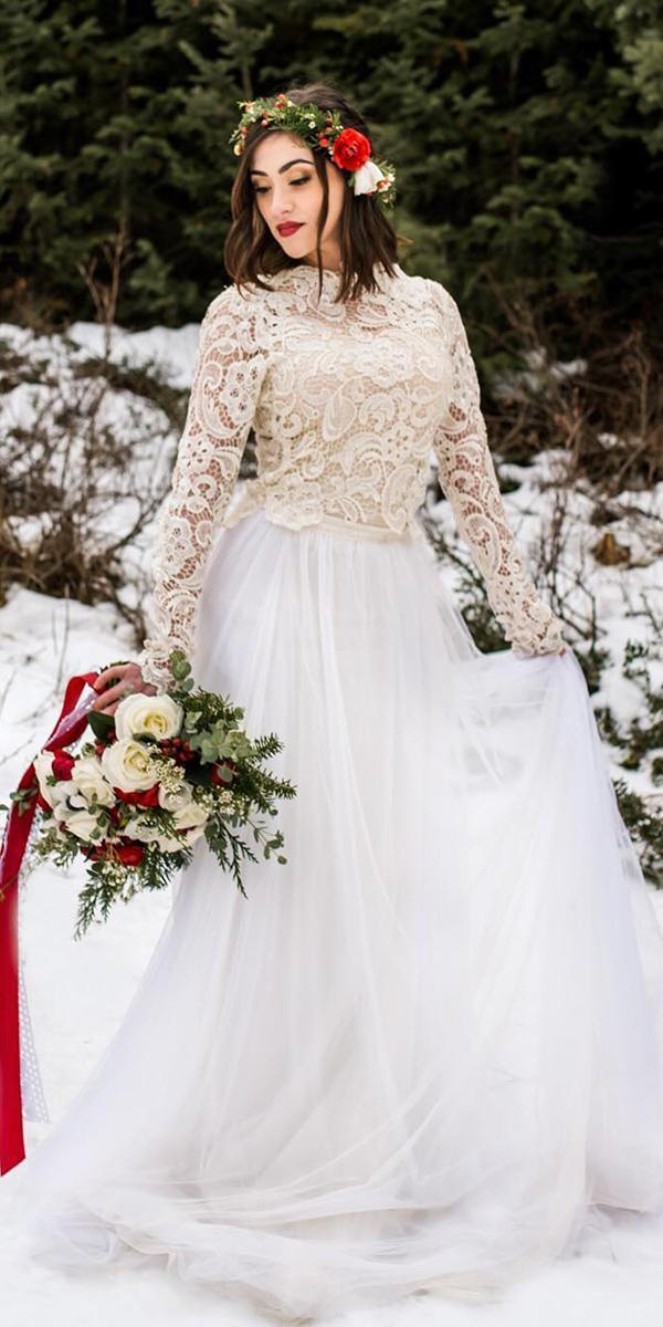winter wedding dresses with coat lace outdoor jnoelle design