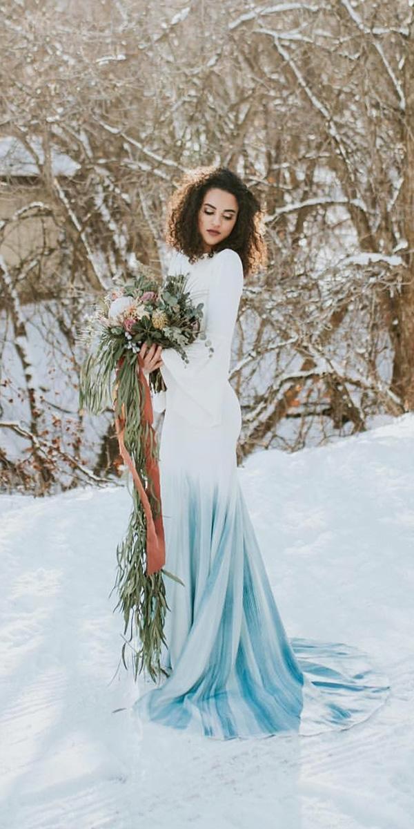 winter wedding dresses with long sleeves ombre chante llauren-