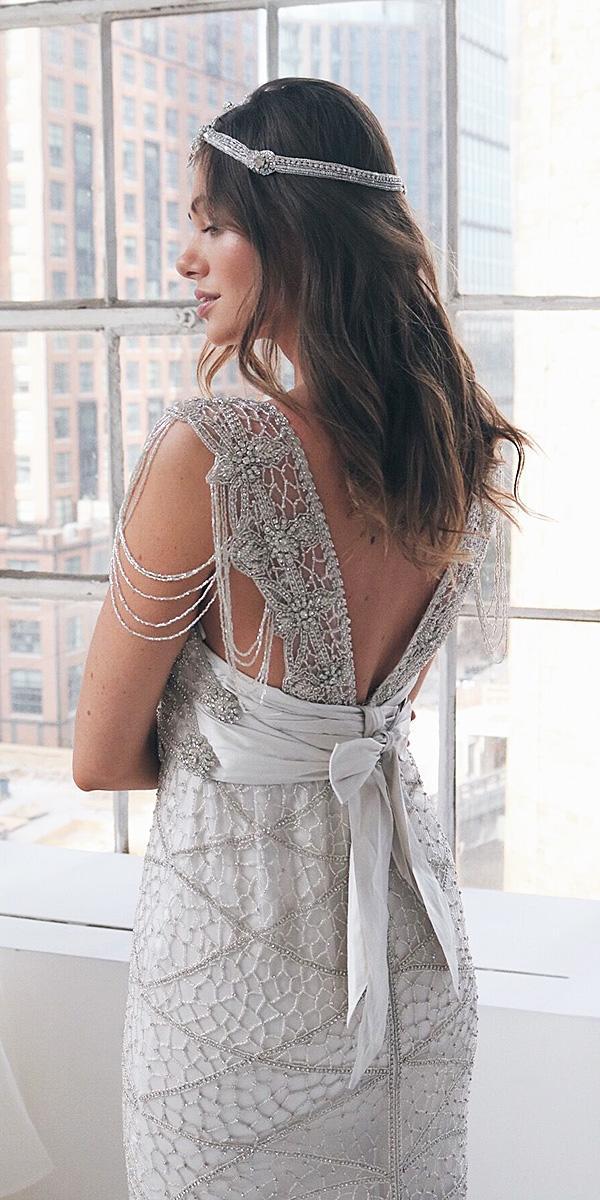 anna campbell wedding dresses 2018 beaded lace v back bow vintage
