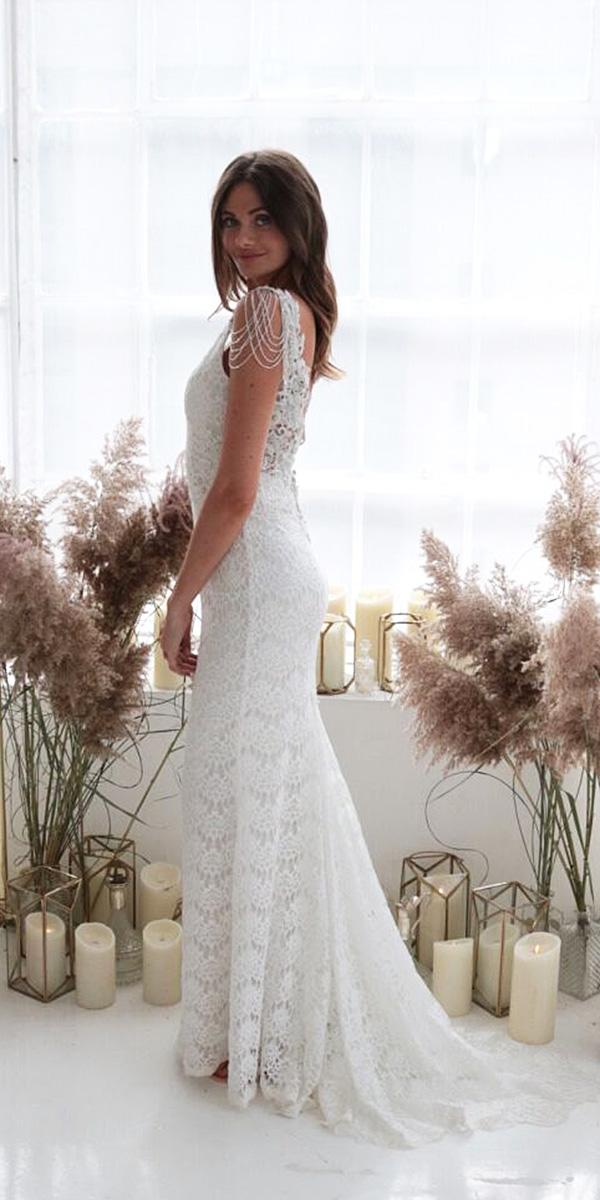 anna campbell wedding dresses 2018 sheath beaded with train boho