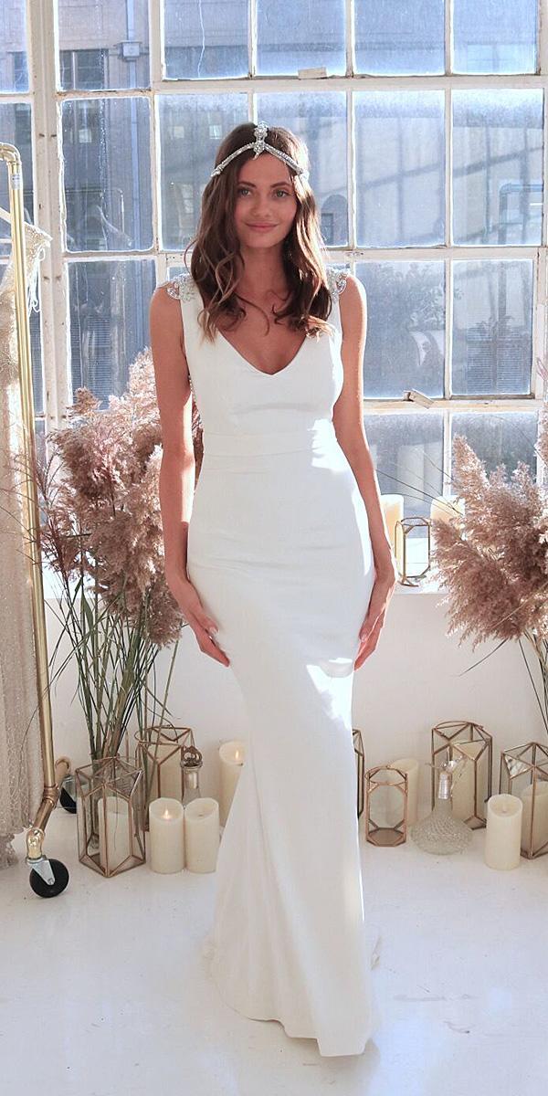 anna campbell wedding dresses 2018 sheath simple romantic