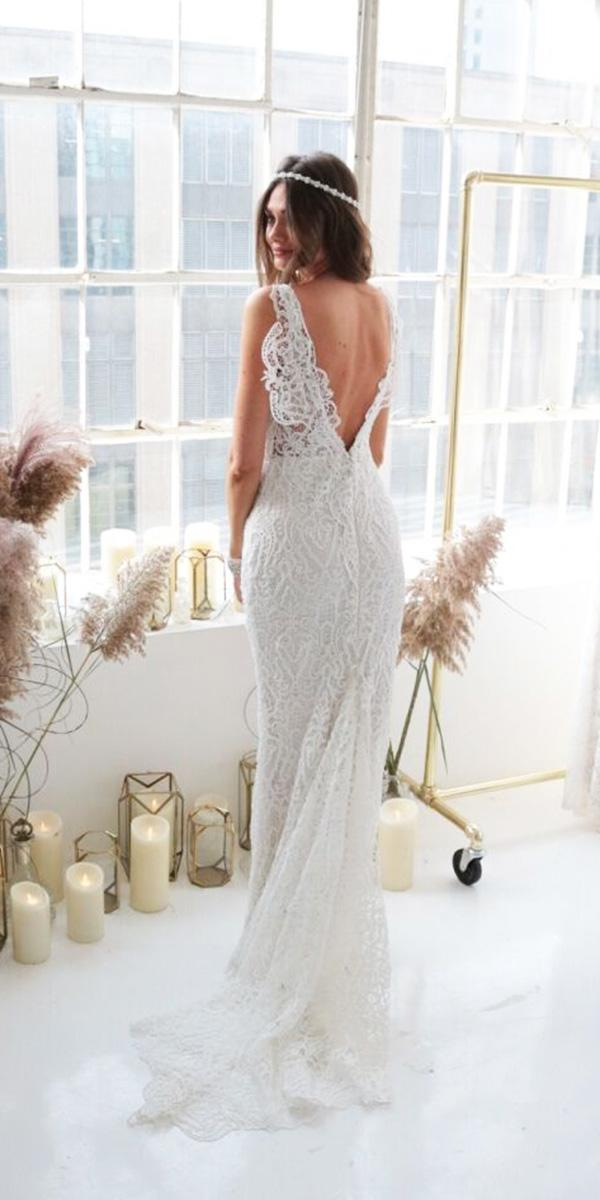 anna campbell wedding dresses 2018 v back lace embroidered boho with train