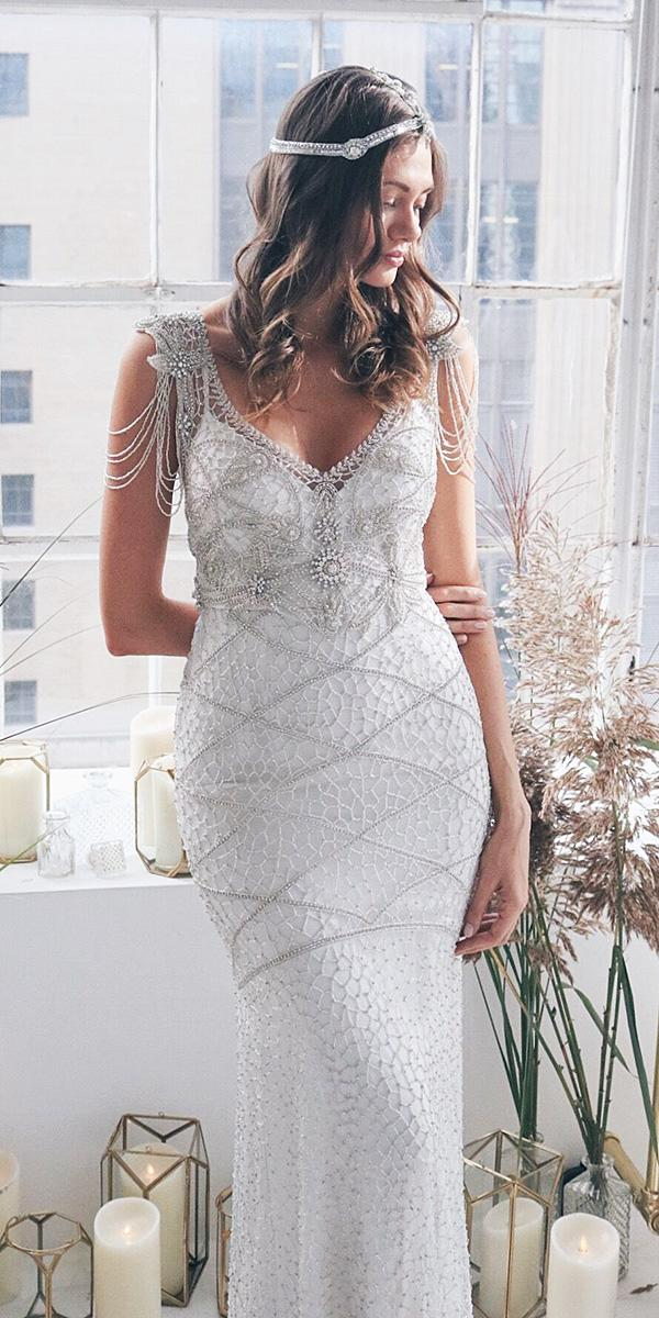 anna campbell wedding dresses 2018 v neckline beaded lace