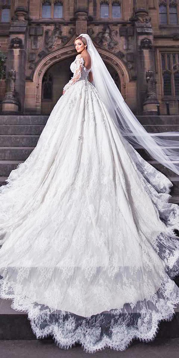 azzaria wedding dresses a line with long sleeves low back full lace