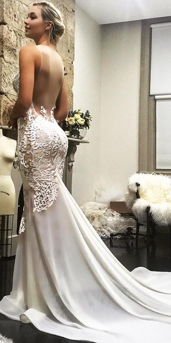 azzaria wedding dresses mermaid low back satin skirt