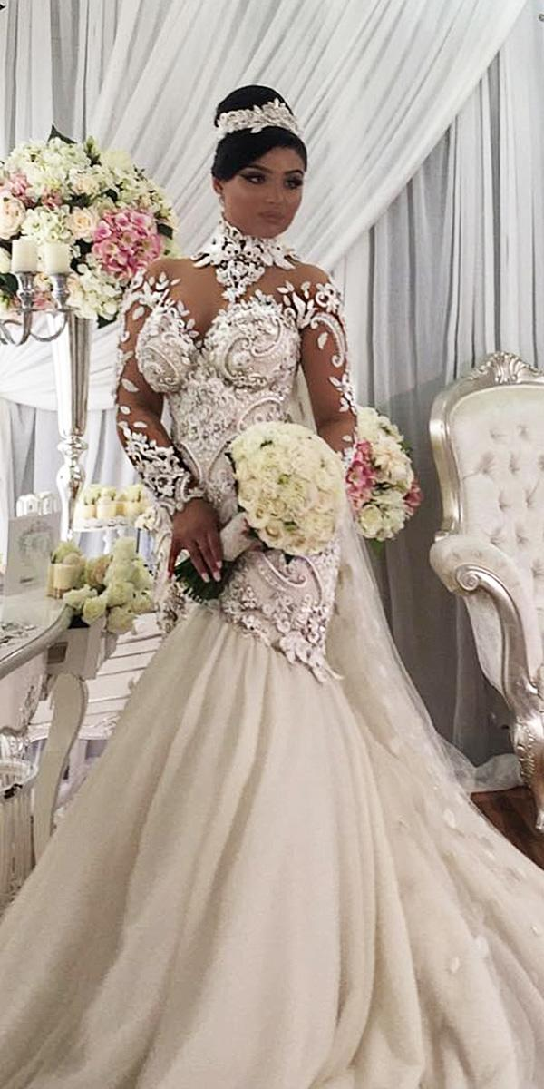 azzaria wedding dresses mermaid sweetheart tatto effect lace