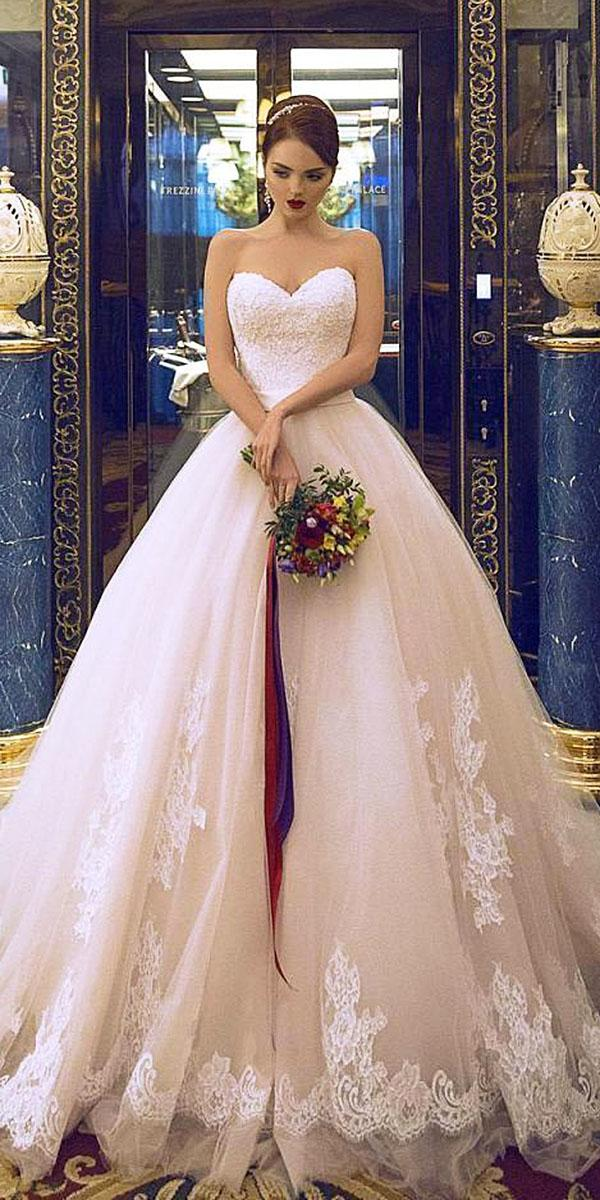 ball gown spaghetti straps full lace beaded saidm hamad photography top wedding dresses