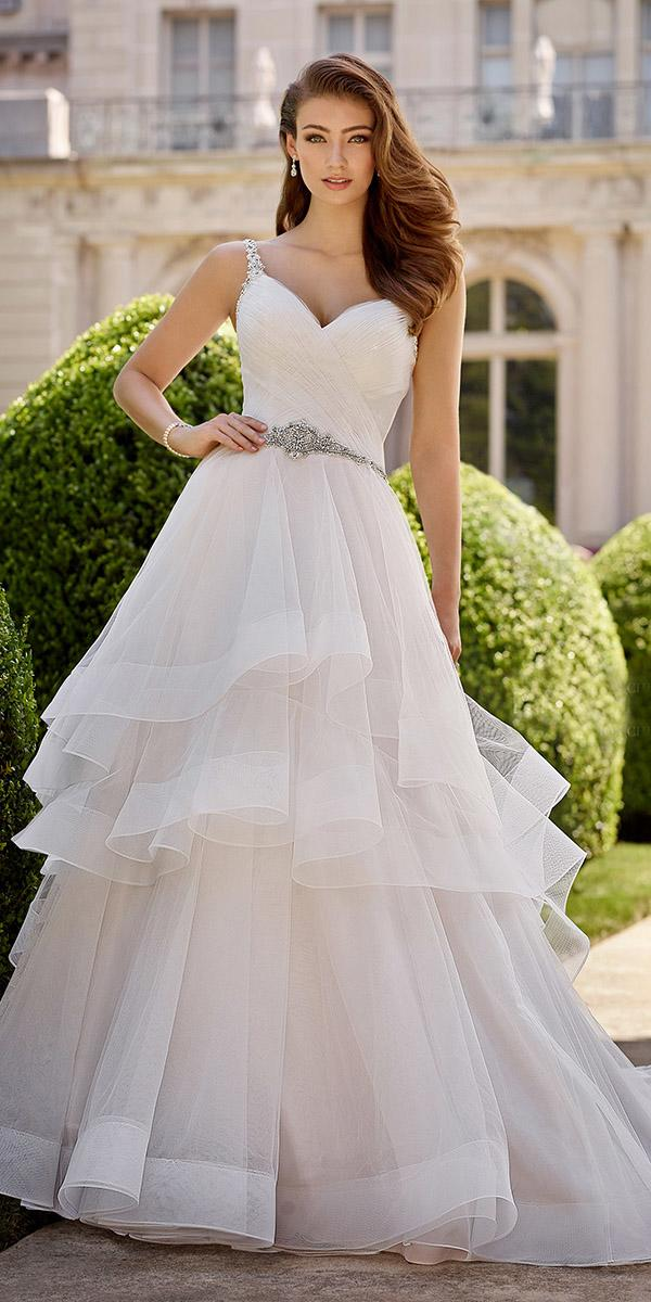 ball gown sweetheart ruffled skirt simple mon cheri martin thornburg wedding dresses