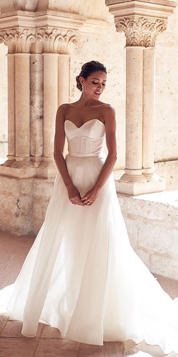 beach destination wedding dresses a line strapless simple anna campbell