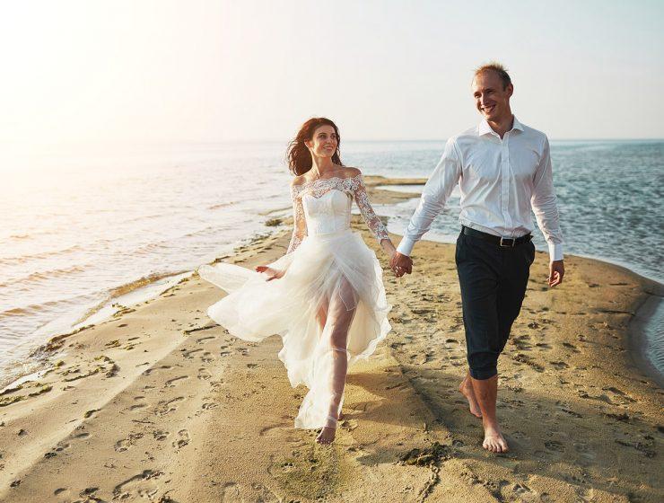 beach destination wedding dresses featured