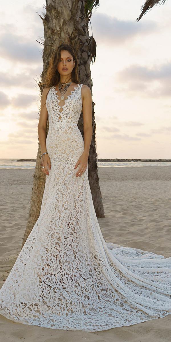 24 unforgettable beach destination wedding dresses wedding dresses beach destination wedding dresses trumpet deep v neckline full lace rish bridal junglespirit Images