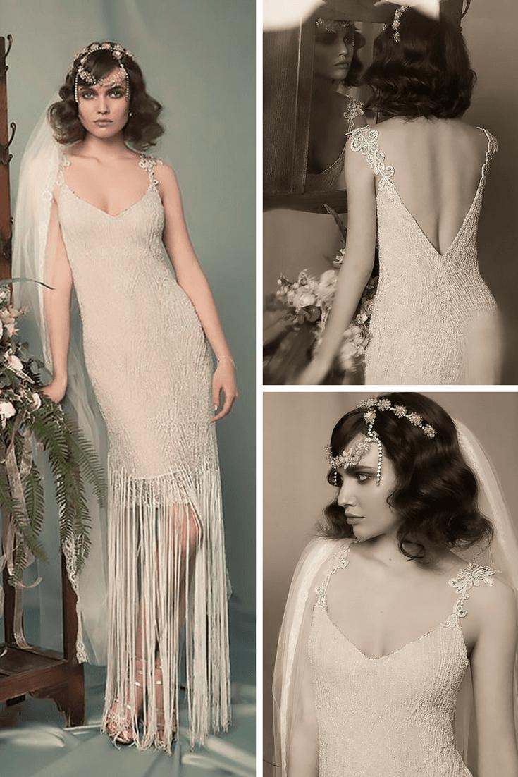 boho vintage wedding dresses sweetheart spaghetti straps lace hila gaon