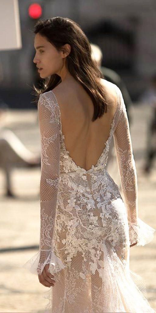 boho wedding dresses with sleeves open back lace liz martinez
