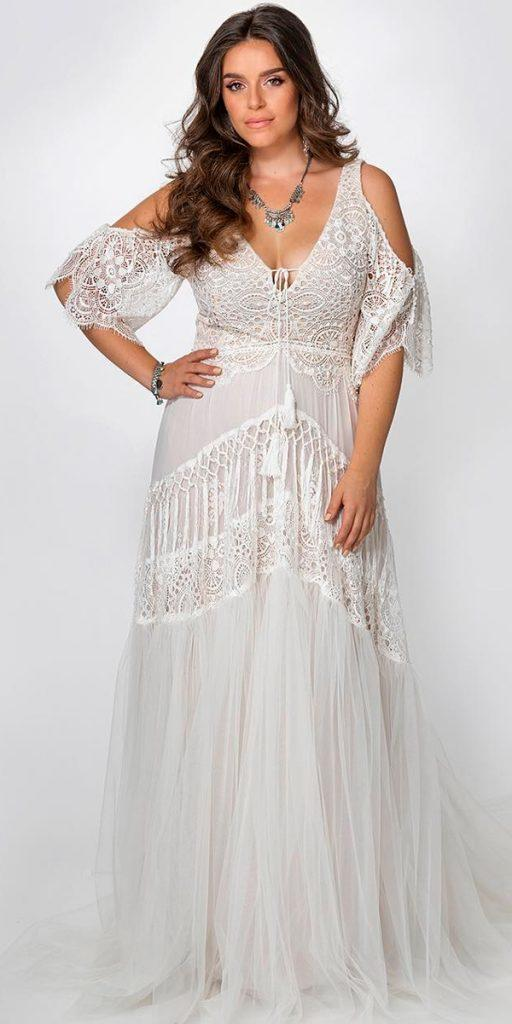 24 Amazing Boho Wedding Dresses With Sleeves Wedding Dresses Guide