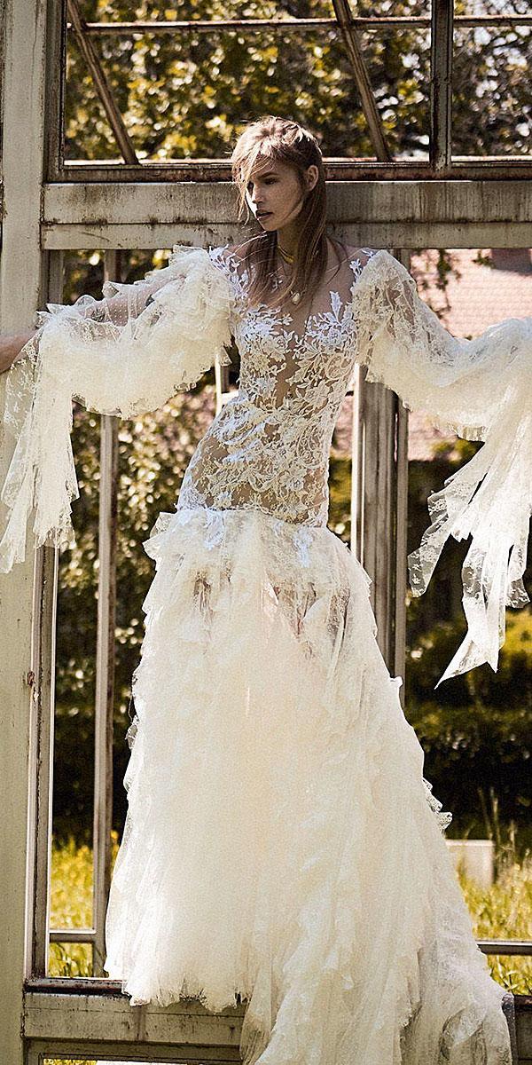 christos costarellos wedding dresses 2018 nude full lace embellishment