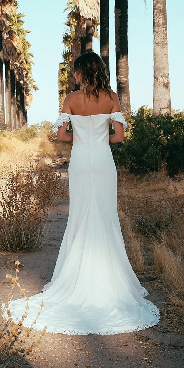 daughters of simone bohemian wedding gowns back off the shoulder simple