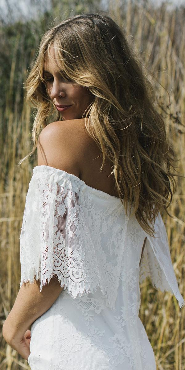 daughters of simone bohemian wedding gowns lace details