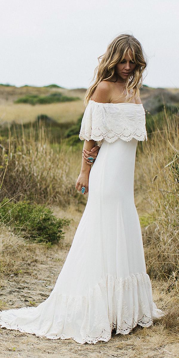 Bohemian Silk Wedding Dress