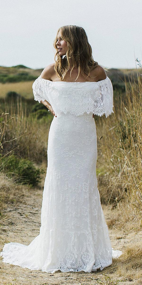 daughters of simone bohemian wedding gowns sheath strapless full lace elegant