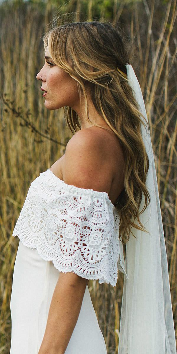daughters of simone bohemian wedding gowns strapless lace details