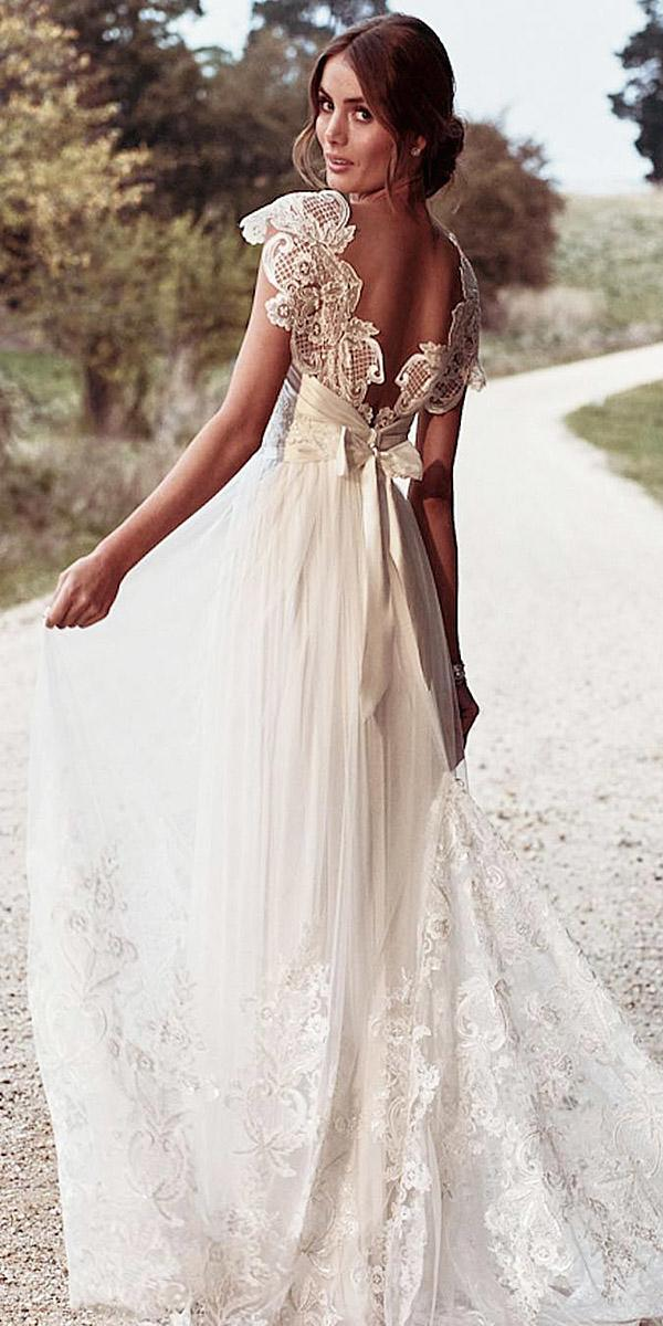 beach destination wedding dresses a line lace embellishment with cap sleeves anna campbell