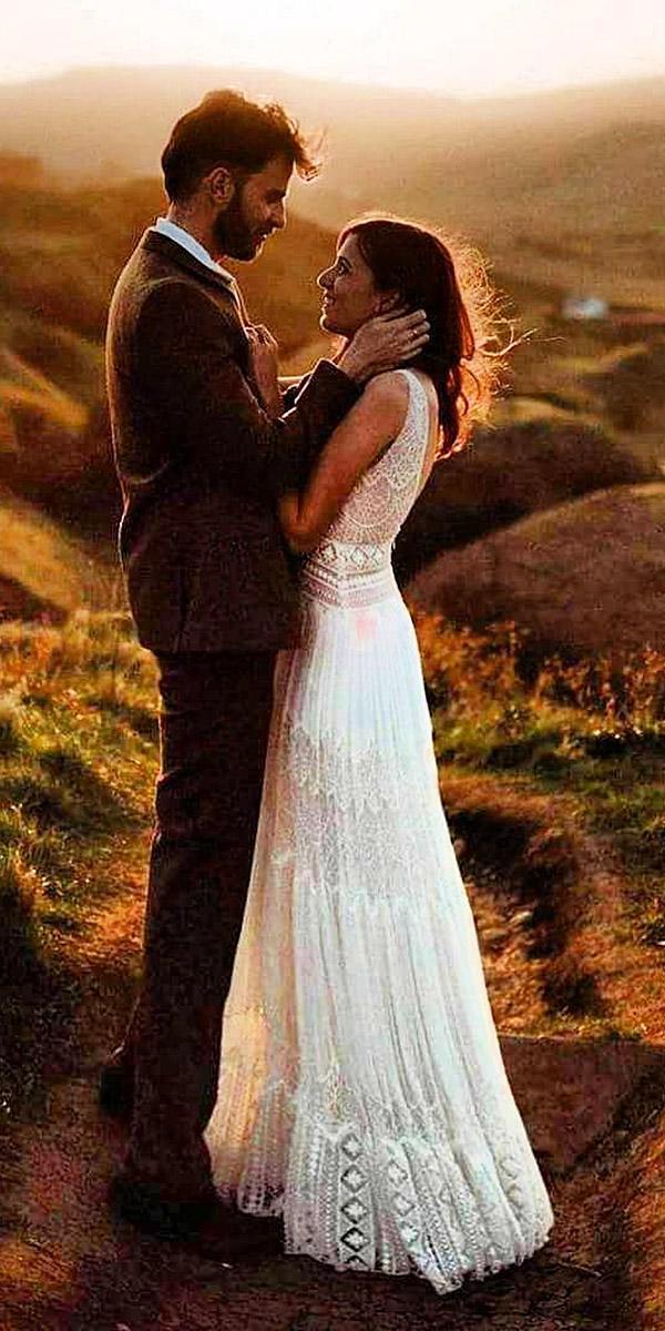 beach destination wedding dresses a line sleeveless full lace embellishment inbal raviv bridal