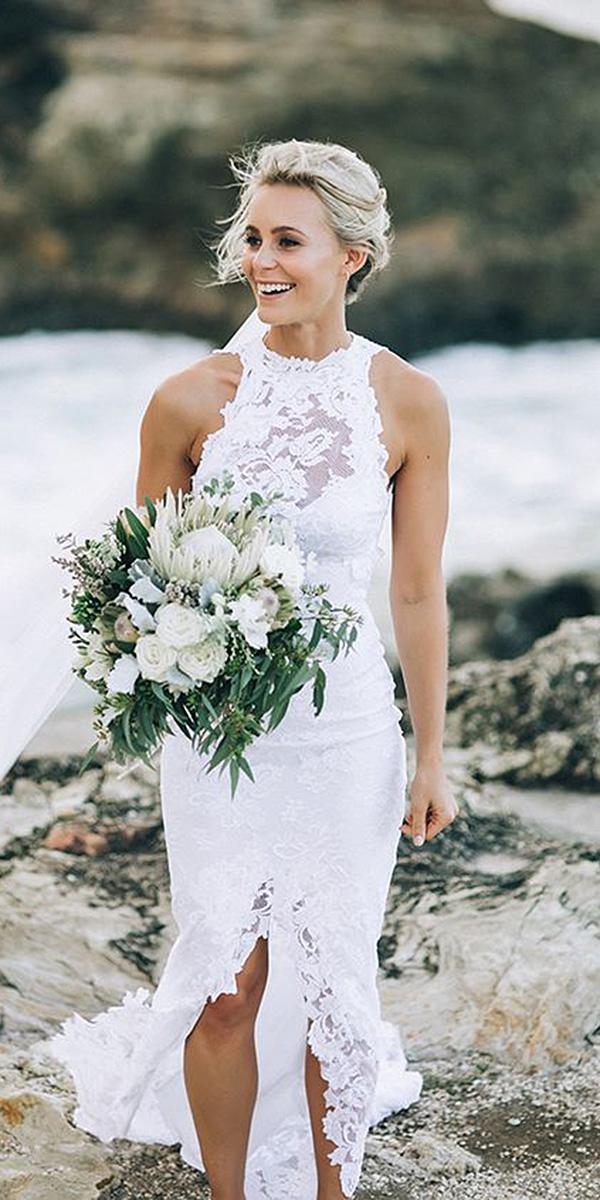 destination wedding dresses jewel neckline full lace sleeveless beach grace loves lace