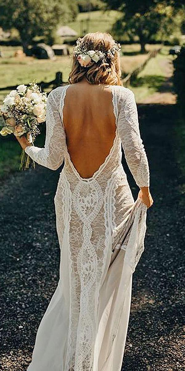 beach destination wedding dresses low back with long sleeves full lace grace loves lace