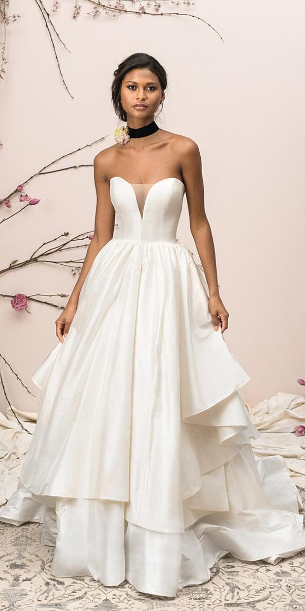 justin alexander signature wedding dresses a line sweetheart ruffled skirt simple